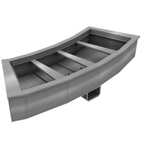 Delfield N8176-BRP Four Pan Curved Drop-In Refrigerated Cold Food Well
