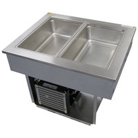 Delfield 8132-EFP Two Pan Drop In LiquiTec Refrigerated Cold Food Well