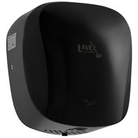 Lavex Janitorial Black High Speed Automatic Hand Dryer with HEPA Filtration - 110-130V, 1450W