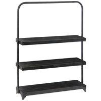 20 3/4 inch x 5 3/4 inch x 26 1/4 inch 3 Tier Rectangular Metal Merchandising Display Stand