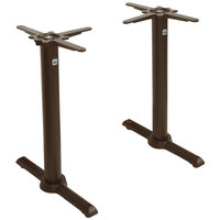 FLAT Tech CT2053 22 inch Auto Adjustable Standard Height Bronze Table Base Set