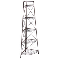 27 inch x 9 1/4 inch x 79 inch 5 Tier Tapered Metal Corner Display Tower