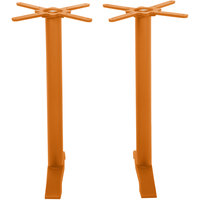 BFM Seating PHTB0022CTT Bali Steel Citrus Outdoor / Indoor Bar Height End Table Base Set