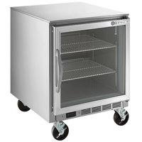 Beverage-Air UCR27AHC-25 27 inch Glass Door Undercounter Refrigerator