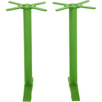 BFM Seating PHTB0022LMT Bali Steel Lime Outdoor / Indoor Bar Height End Table Base Set