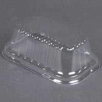 D&W Fine Pack 4299 Clear Dome Lid for 1 lb. Foil Bread Loaf Pan   - 500/Case