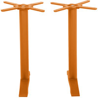 BFM Seating PHTB0022CT Bali Steel Citrus Outdoor / Indoor Standard Height End Table Base Set
