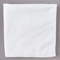 Carlisle 3633402 16 inch x 16 inch White Terry Microfiber Cleaning Cloth