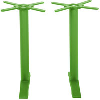 BFM Seating PHTB0022LM Bali Steel Lime Outdoor / Indoor Standard Height End Table Base Set