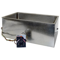 APW Wyott BM-80D Bottom Mount 12 inch x 20 inch Insulated High Performance Hot Food Well with Drain - 208/240V