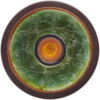 Elite Global Solutions V15 Earth Elements 15 inch Ginkgo Leaf Pattern Round Melamine Platter
