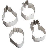 Ateco 1426 Stainless Steel 4-Piece Fruit Shaped Mold / Cookie Cutter Set