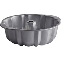 Chicago Metallic 51060 10 inch Aluminized Steel Fluted Bundt Cake Pan - 96 oz. Capacity