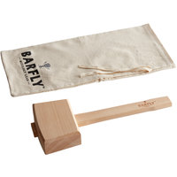 Barfly 13 1/2 inch Wood Ice Mallet with Lewis Canvas Bag