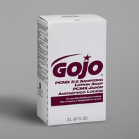 GOJO® 2281-04 NXT E2 2000 mL Fragrance Free Sanitizing Lotion Hand Soap Refill with PCMX - 4/Case