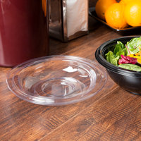 Fineline 5024-L Super Bowl Clear PET Plastic Dome Lid for 24 oz. Bowls - 50/Pack