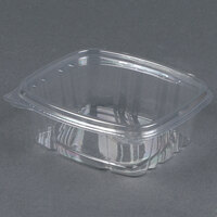 D&W Fine Pack VH12PC1 VersaPak 12 oz. Recyclable Square Hinged Take Out Deli Container - 240 / Case