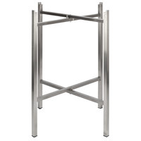 Bon Chef 50410 Flex-X 36 inch Foldable Stainless Steel Counter Height Table Base