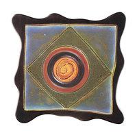 Elite Global Solutions V10511 Earth Elements 11 inch Multi-Color Square Melamine Platter