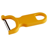 Mercer Culinary M33071YLB 4 inch Yellow Y Vegetable Peeler with Straight High Carbon Stainless Steel Blade