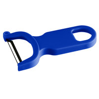 Mercer Culinary M33071BLB 4 inch Blue Y Vegetable Peeler with Straight High Carbon Stainless Steel Blade