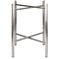 Bon Chef 50411 Flex-X 36 inch Foldable Stainless Steel Bar Height Table Base