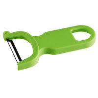 Mercer Culinary M33071GRB 4 inch Green Y Vegetable Peeler with Straight S High Carbon tainless Steel Blade