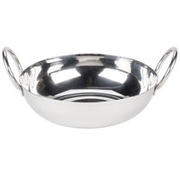 American Metalcraft BD55 18 oz. Stainless Steel Balti Dish - 5 1/2 inch x 1 1/2 inch
