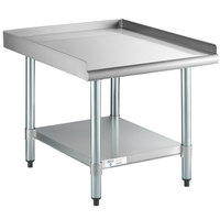 Steelton 30 inch x 24 inch 18-Gauge Stainless Steel Equipment Stand with Undershelf and Galvanized Legs