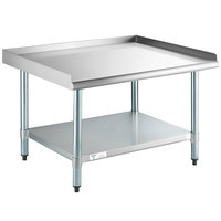 Steelton 30 inch x 36 inch 18-Gauge Stainless Steel Equipment Stand with Undershelf and Galvanized Legs