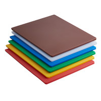 24 inch x 18 inch x 1/2 inch 6-Board Color-Coded Cutting Board System