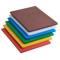 18 inch x 12 inch x 1/2 inch 6-Board Color-Coded Cutting Board System