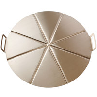 GI Metal AC-CPMP50/8 20 inch Aluminum 8 Portion Pizza Tray with Pleated Handles