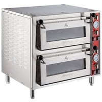 Avantco DPO-18-DD Double Deck Countertop Pizza Oven with Two Independent Chambers - 3200W, 240V