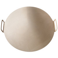 GI Metal AC-CPMP45 18 inch Aluminum Pizza Tray with Pleated Handles
