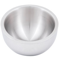 American Metalcraft AB8 54 oz. Double Wall Angled Insulated Serving Bowl - Stainless Steel