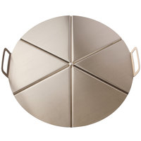 GI Metal AC-CPMP45/6 18 inch Aluminum 6 Portion Pizza Tray with Pleated Handles