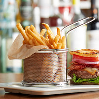 Choice 3 inch Chrome Round Mini Fry Basket