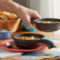 HS Inc. HS1074 12 oz. Charcoal Polypropylene Serving Bowl with Handle   - 24/Case