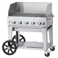 Crown Verity CV-MCB-36WGP Liquid Propane 36 inch Mobile Outdoor Grill with Wind Guard Package