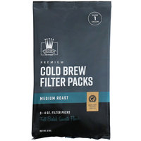 Crown Beverages 12 oz. Cold Brew Coffee Filter Pack Bag - 12/Case