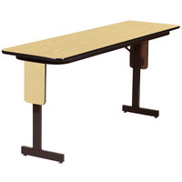 Correll SP1896PX-16 18 inch x 96 inch Fusion Maple Finish Rectangular High Pressure Folding Seminar Table with Panel Leg