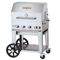Crown Verity CV-MCB-30RDP Liquid Propane 30 inch Mobile Outdoor Grill with Roll Dome Package