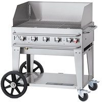 Crown Verity CV-RCB-36WGP Liquid Propane 36 inch Pro Series Outdoor Rental Grill with Wind Guard Package