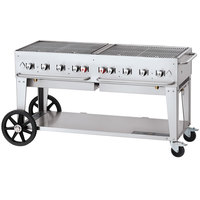 Crown Verity CV-MCB-60-SI-50/100 Liquid Propane 60 inch Mobile Outdoor Grill with Single Gas Connection and 50-100 lb. Tank Capacity