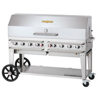 Crown Verity CV-RCB-60-1RDP-SI50/100 60 inch Pro Series Outdoor Rental Grill with Single Gas Connection, 50-100 lb. Tank Capacity and Single Roll Dome Package
