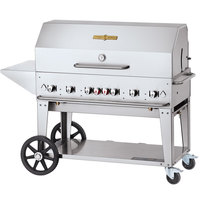 Crown Verity CV-MCB-48-BULK-PKG Liquid Propane 48 inch Mobile Outdoor Grill with Single Gas Connection, Bulk Tank Capacity, and Accessory Package