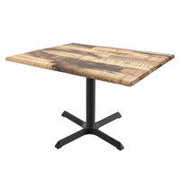 Holland Bar Stool OD211-3030BWOD3248Rustic 32 inch x 48 inch Rustic Outdoor / Indoor Standard Height Table with Cross Base
