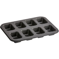 8 Compartment Non-Stick Carbon Steel Mini Bread Loaf Pan - 2 inch x 4 inch x 1 3/8 inch Cavities