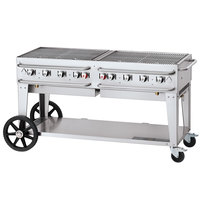 Crown Verity CV-RCB-60-SI50/100 60 inch Pro Series Outdoor Rental Grill with Single Gas Connection and 50-100 lb. Tank Capacity